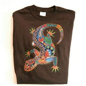 Vtg Southwestern Gecko Rainbow Lizard T Shirt